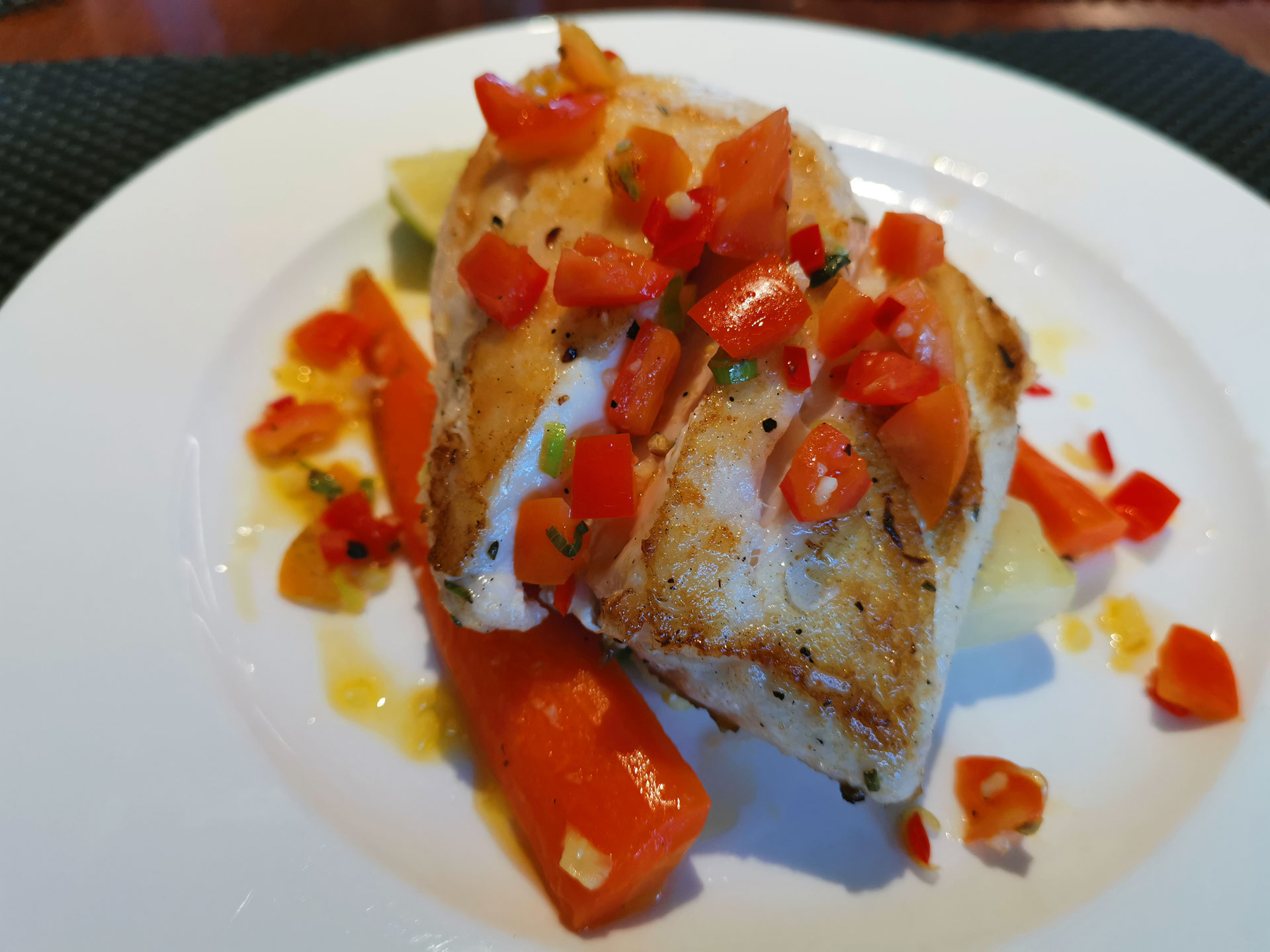 Gaia Love grilled snapper